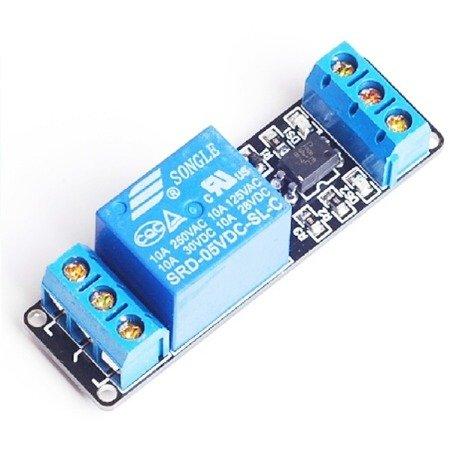Moduł przekaźnika 1-kanał - R1 - 5V - 10A/250V - z optoizolacją - do Arduino