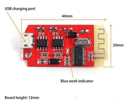 Moduł wzmacniacz audio 2x3W - z bluetooth - DW-CT14+