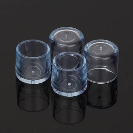 Nakładki ochronne na nogi meblowe - okrągłe 18mm - 4 szt - Osłona silikonowa na nóżki