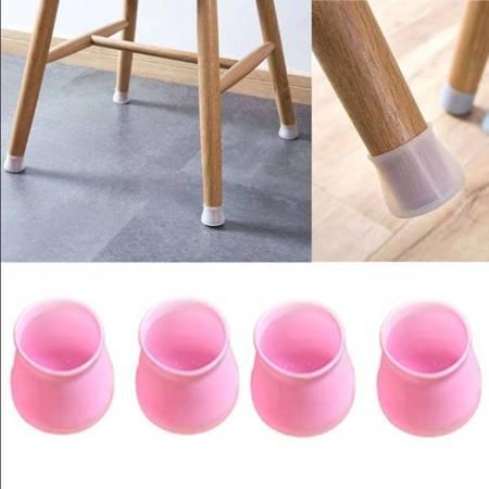 Nakładki ochronne na nogi meblowe - różowe 4 szt - Osłona silikonowa na nóżki