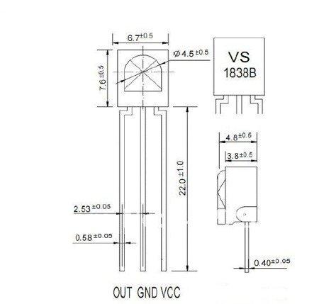 Odbiornik podczerwieni VS1839 / HX1838