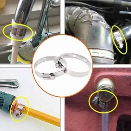Opaska zaciskowa 16x25mm - 10 szt - metalowa obejma ślimakowa do rur i węży
