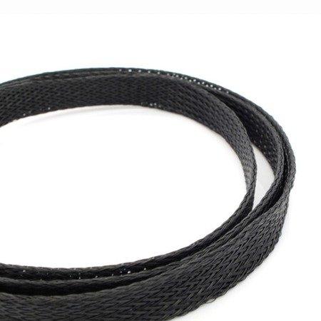 Oplot na przewody 4mm/8mm -  Oplot poliestrowy/ Plecionka - black - 1mb