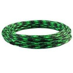 Oplot na przewody 4mm/8mm - zielono-czarny - oplot poliestrowy/ Plecionka - 1mb