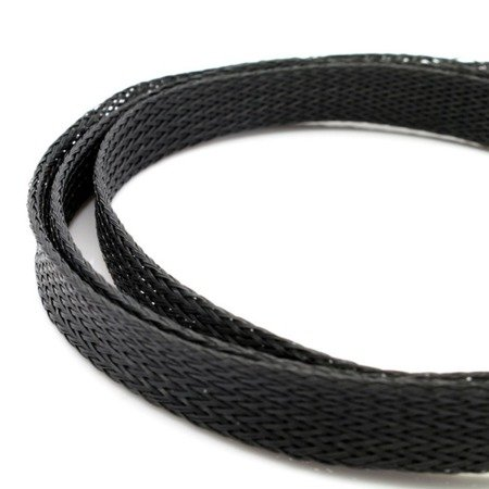Oplot na przewody 5mm/10mm -  Oplot poliestrowy/ Plecionka - black - 1mb