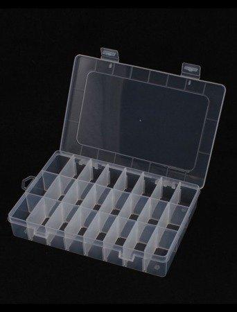Organizer 24 przegródek 195x130x36mm - pojemnik na drobiazgi