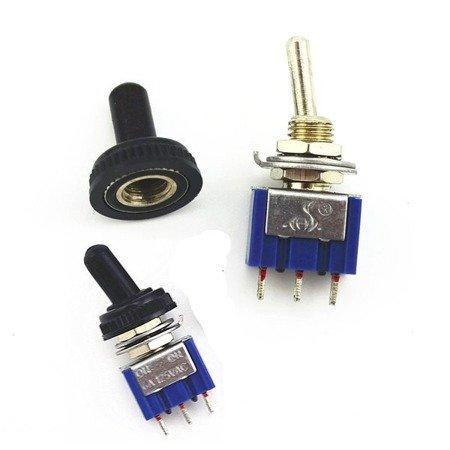 Osłona wodoodporna na przełącznik dźwigniowy - WPC-05 - 6 mm