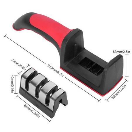 Ostrzałka do noży i nożyczek ceramiczna 3w1 - osełka 3-stopniowa