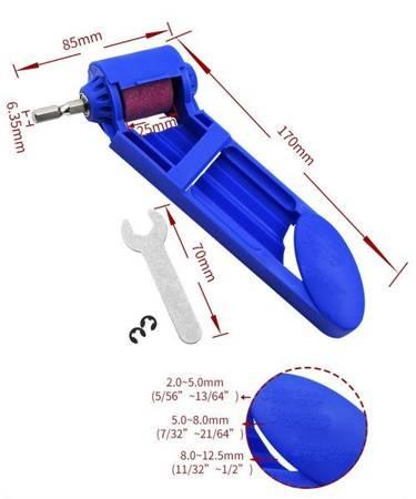 Ostrzałka do wierteł 2-12.5 mm - Przystawka do wkrętarki wiertarki