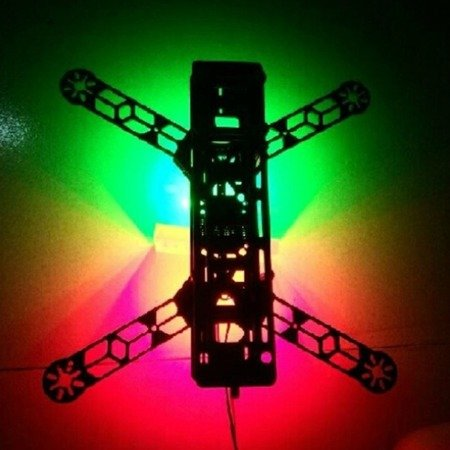 Oświetlenie drona - paski 8xRGB LED WS2812B - do dronów wyścigowych - 2812-8