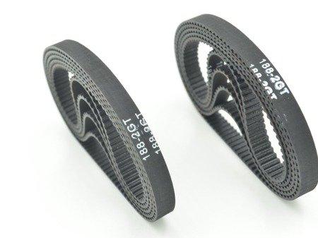 Pasek GT2 zamknięty 188mm - pasek bezkońcowy szerokość 6mm -  RepRap 3D CNC