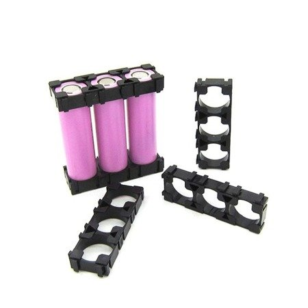 Plastikowa obudowa 1x3 do pakietowania akumulatorów Li-Ion 18650 - na 3 szt.