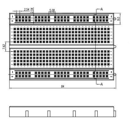 Płytka stykowa 400 pól - MR200-001 - uniwersalna płytka prototypowa