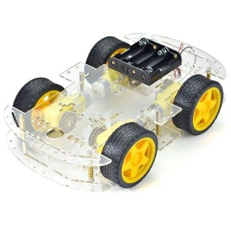 Podwozie robota 4WD ZK-03 - 260mm - 4 silniki z enkoderami  - platforma mobilna