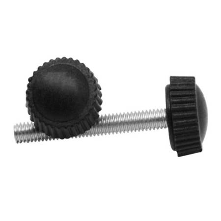 Pokrętło radełkowane M4x16mm - gałka, śruba z łbem bakelitowym