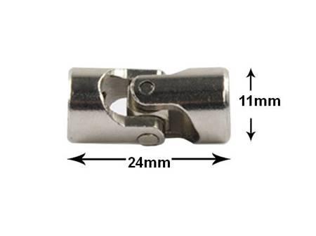 Przegub kardana 24x11mm - na oś 5/5mm - do budowy robotów, projektów DIY