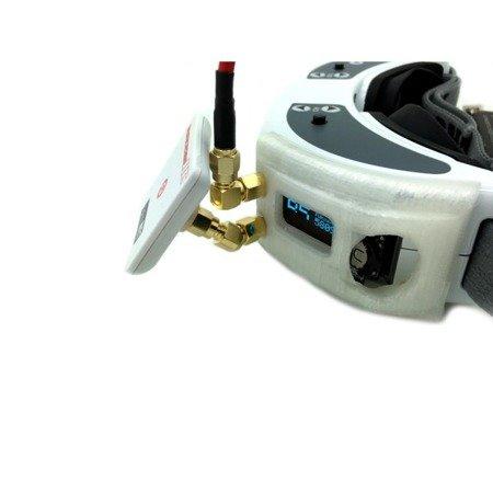 Przejście kątowe 45 stopni - SMA plug do SMA jack - adapter 1 szt