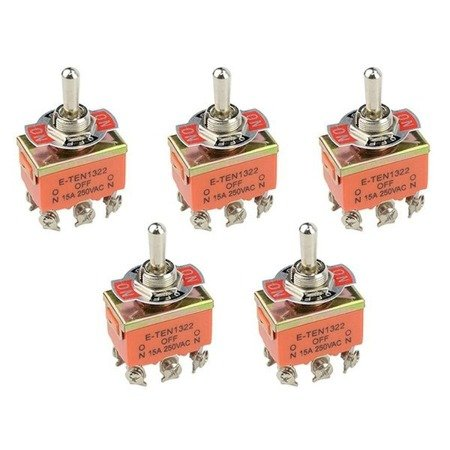 Przełącznik dźwigniowy - 15A - 250V - 3-pozycyjny - E-TEN1322 - 6 pin