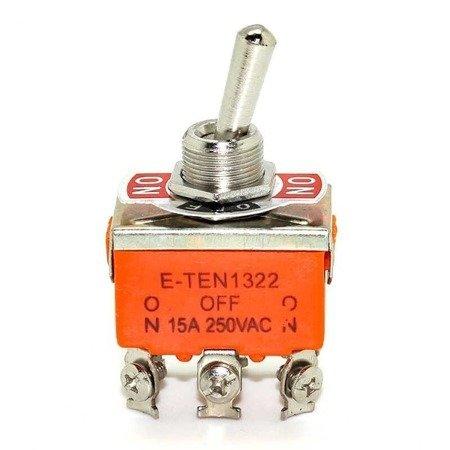 Przełącznik dźwigniowy - E-TEN1322 - 15A - 250V - 3-pozycyjny - 6 pin