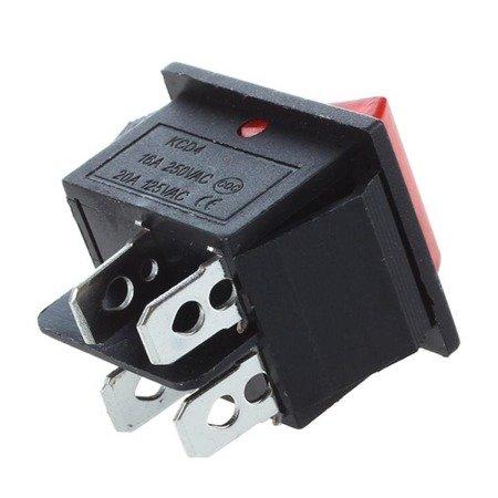 Przełącznik klawiszowy KCD4 - przełącznik ON/OFF - 220V - 4 PIN