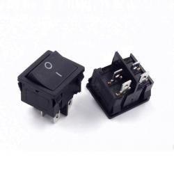 Przełącznik klawiszowy KCD5 - podwójny - 15A/250V - ON/OFF - czarny - 4 PIN