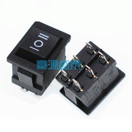 Przełącznik kołyskowy KCD1-203  KCD1-4 - przełącznik ON/OFF/ON - 220V - 6 PIN