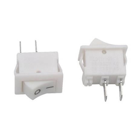 Przełącznik kołyskowy bistabilny KCD11 - biały - 15x10mm - przełącznik ON/OFF 230V - 2PIN