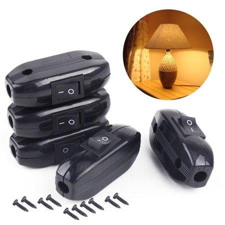 Przełącznik na kabel - przelotowy - ON/OFF - wyłącznik lampowy