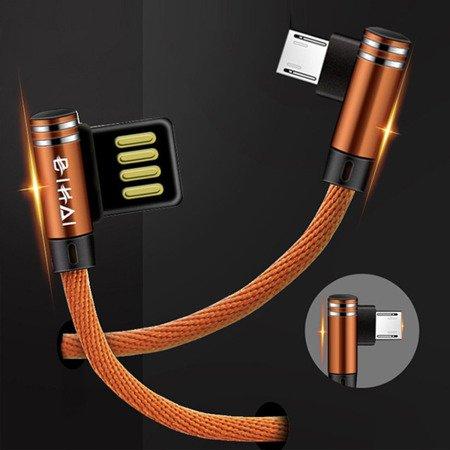 Przewód USB - Micro USB - High-Quality BIHAI - kątowy - 100cm