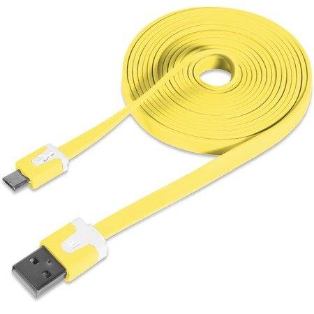 Przewód micro usb - USB płaski kabel 100cm - do telefonu, aparatu, nawigacji itd.
