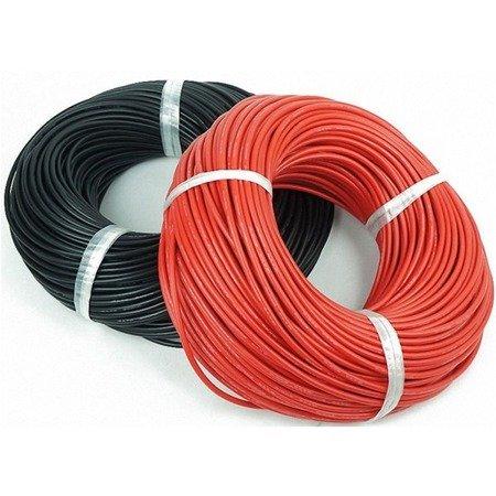Przewód silikonowy miedziany ocynowany 20AWG - 100 żył - 0,5mm2 - czarny - elastyczny