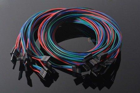 Przewody 4-piny 70cm F-F do czujników drukarki 3D RepRap