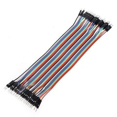 Przewody kable zworki DuPont M-M 40 szt 20cm - męsko-męskie