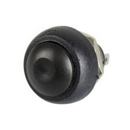 Przycisk chwilowy PBS-33B - czarny - 250V-1A - 12mm - monostabilny - okrągły