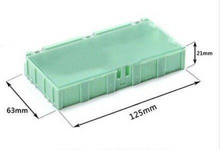 Pudełko do przechowywania elementów SMD - 125x63x21mm z pokrywką - WEN-TAI