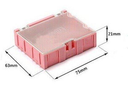 Pudełko do przechowywania elementów SMD - 75x63x21mm z pokrywką - WEN-TAI