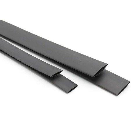 Rurka Termokurczliwa Ø16mm 1mb - czarna - elastyczna - silikonowa