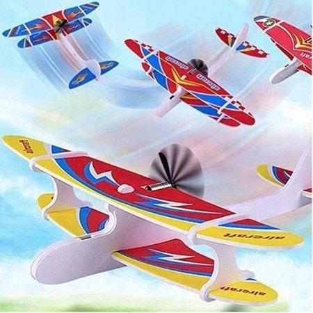 Samolot dwupłatowy styropianowy z silnikiem - rzutek - model edukacyjny dla dzieci
