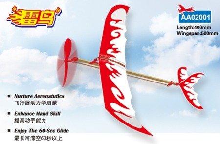 Samolot z napędem gumowym Thunder Bird 500mm - gumówka dla dzieci