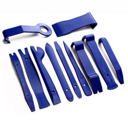 Ściągacze do tapicerki - Zestaw 12 szt narzędzi do otwierania i demontażu paneli
