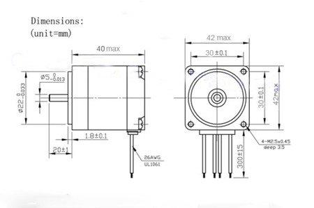 Silnik krokowy NEMA17 - JK42HS40 - 1,7A - 40mm