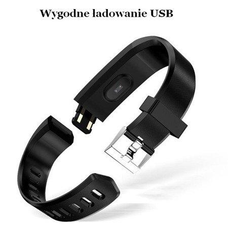 Smartband 115plus granatowy - Opaska sportowa - Fitness - tętno, kalorie, kroki