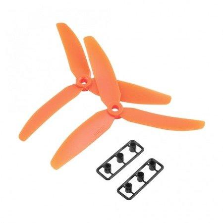 Śmigła LJI 5x3 x3-blades CW/CCW - orange - 2 szt - para śmigieł 3- łopatowych 5030