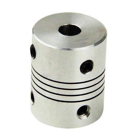 Sprzęgło elastyczne 5/6 mm - sprzęgło aluminiowe do drukarki 3D