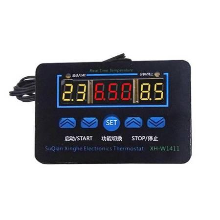 Sterownik, regulator temperatury 220V od -19°C do 99°C - W88 - XH-W1411 w obudowie