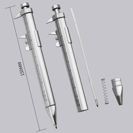 Suwmiarka z długopisem 0-100mm - 2w1 - linijka - narzędzie pomiarowe