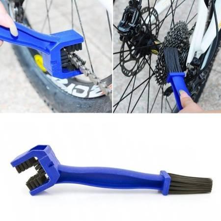 Szczotka do czyszczenia łańcucha rowerowego i motocyklowego- niebieska