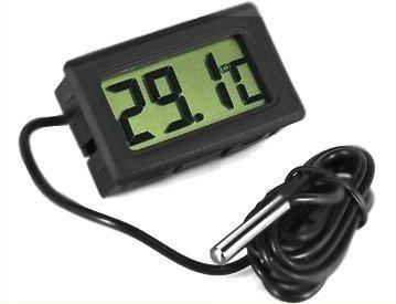Termometr LCD z sondą w obudowie -50C do 110C - miernik temperatury