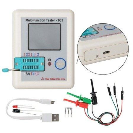 Tester tranzystorów LCR-TC1 - miernik - RLC ESR NPN PNP MOSFET - IR