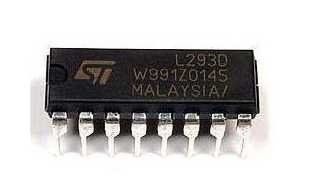 Układ scalony L293D - Sterownik silnika 2x Mostek H - DIP-16 L293